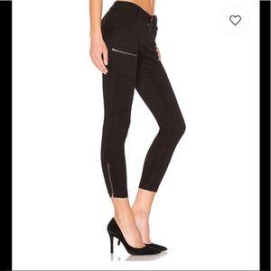 Joie Park Skinny Moto Black Cropped Ankle Jeans